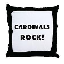 Cardinals ROCK Throw Pillow