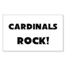 Cardinals ROCK Rectangle Sticker