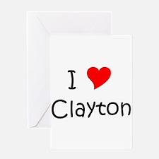 Cute I love clayton Greeting Card