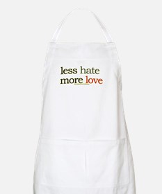 Less hate, more love BBQ Apron