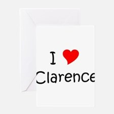 Cute I love clarence Greeting Card