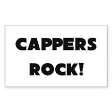 Cappers ROCK Rectangle Decal