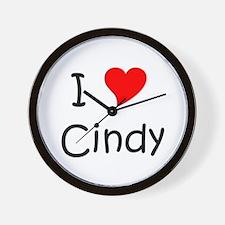 Cute I love cindy Wall Clock