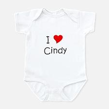 Cute I love cindy Infant Bodysuit