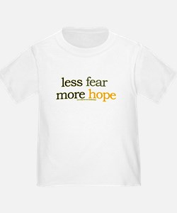 less fear, more hope T