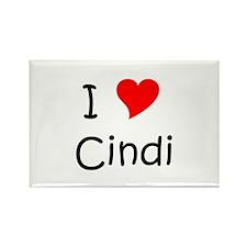 Cool I love cindy Rectangle Magnet