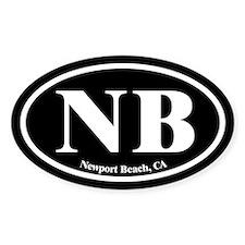 Newport Beach NB Euro Oval Oval Decal