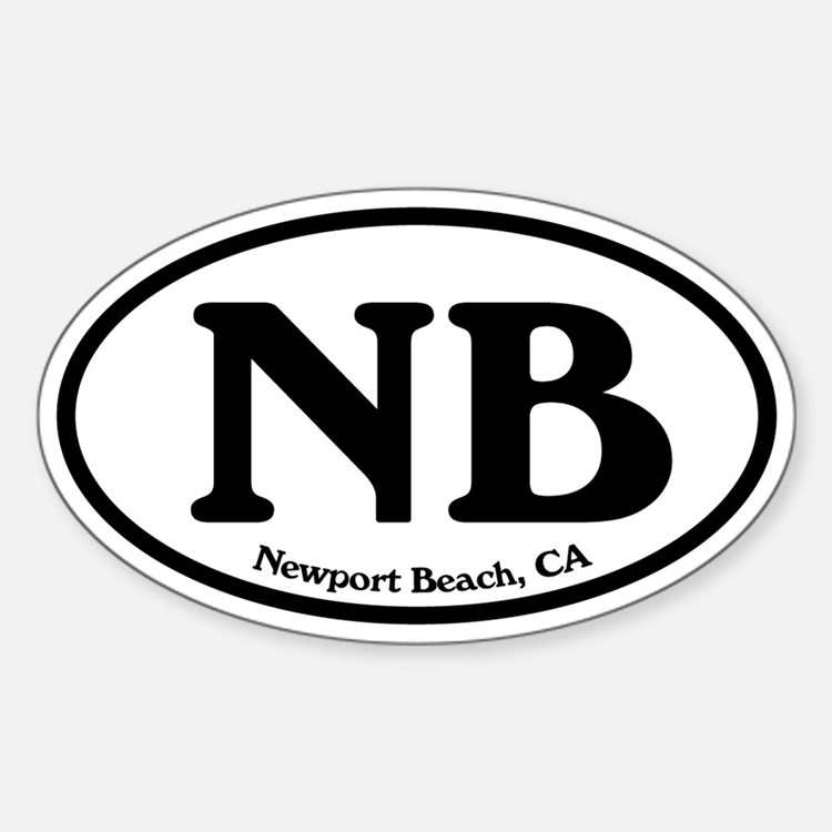 Newport Beach NB Euro Oval Oval Decal