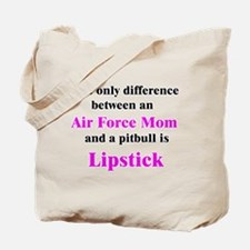 Air Force Mom Pitbull Lipstick Tote Bag