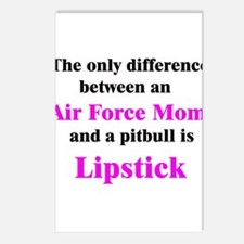 Air Force Mom Pitbull Lipstick Postcards (Package