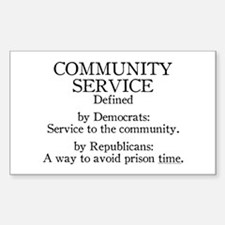 Community Service Defined Rectangle Decal