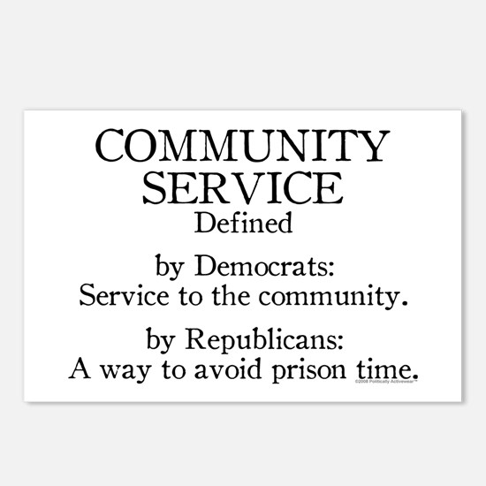 Community Service Defined Postcards (Package of 8)