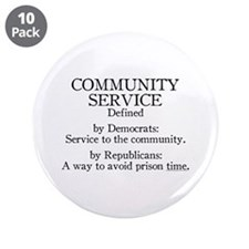 """Community Service Defined 3.5"""" Button (10 pack)"""
