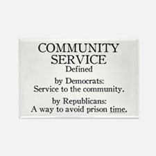 Community Service Defined Rectangle Magnet (100 pa