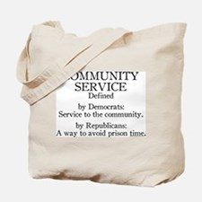 Community Service Defined Tote Bag