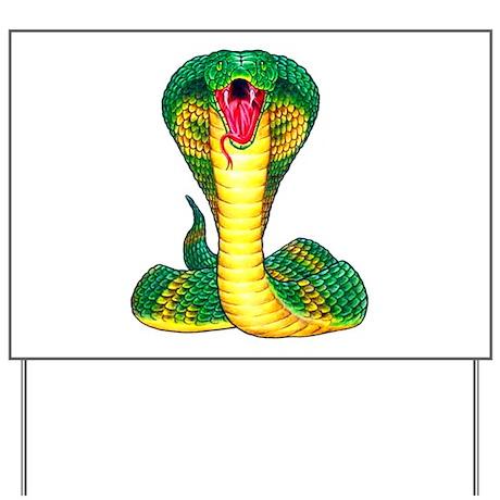 Cobra Snake Tattoo Art Yard Sign