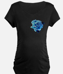 Smaller Ice Blue Rose T-Shirt