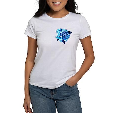 Smaller Ice Blue Rose Women's T-Shirt