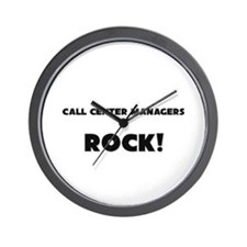 Call Center Managers ROCK Wall Clock
