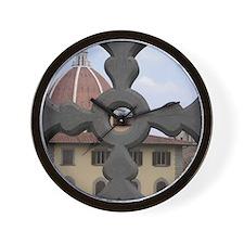 Wall Clock Duomo Florence Italy