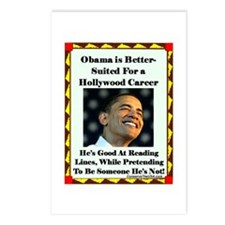 """""""Obama the Actor"""" Postcards (Package of 8)"""