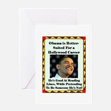 """Obama the Actor"" Greeting Card"