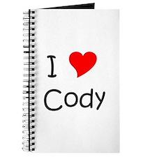 Cool I love cody Journal
