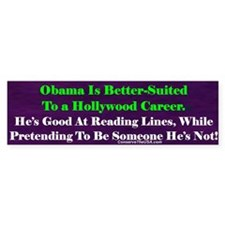 """Obama the Actor"" Bumper Bumper Sticker"