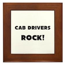 Cab Drivers ROCK Framed Tile