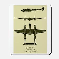 P-38 Mousepad