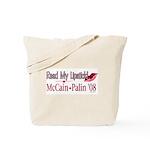 McCain Palin Read My Lipstick Tote Bag