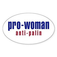 Pro-Woman / Anti-Palin Oval Decal