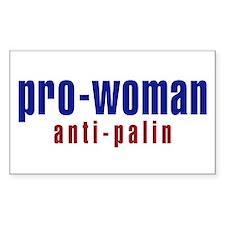 Pro-Woman / Anti-Palin Rectangle Decal