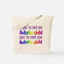 One Autistic Child Tote Bag
