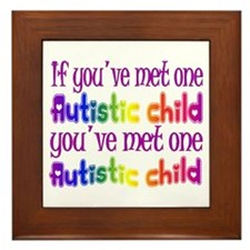 One Autistic Child Framed Tile