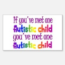 One Autistic Child Rectangle Decal