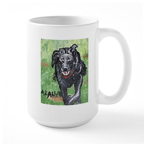 Large Mug with Beautiful Running Dog