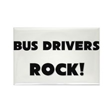 Bus Drivers ROCK Rectangle Magnet (10 pack)