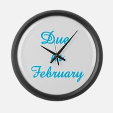 Cute Due february Large Wall Clock