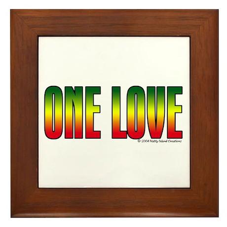 One Love Framed Tile