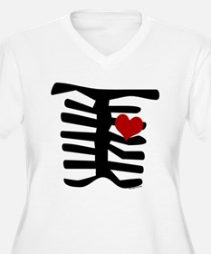Skeleton with Heart T-Shirt