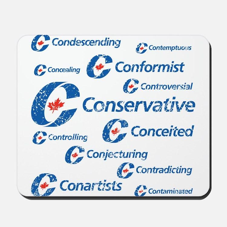 Conservative Cons Mousepad
