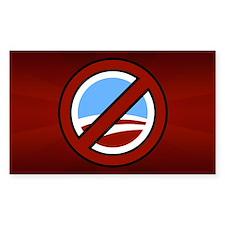 Anti Obama Rectangle Decal