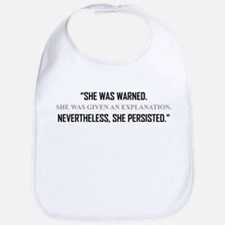 SHE PERSISTED. Baby Bib