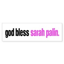 god bless sarah palin Bumper Bumper Sticker