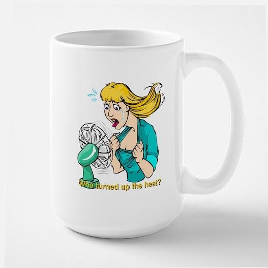 Hot flashes humor Large Mug