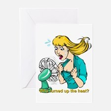 Hot flashes humor Greeting Cards (Pk of 10)
