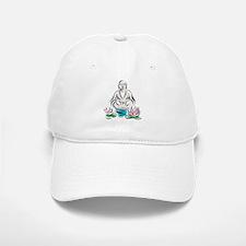 Buddha With Lotus Flowers Baseball Baseball Cap
