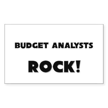 Budget Analysts ROCK Rectangle Sticker