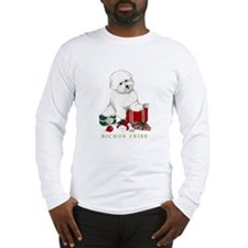 Bichon Frise Christmas Package Long Sleeve T-Shirt